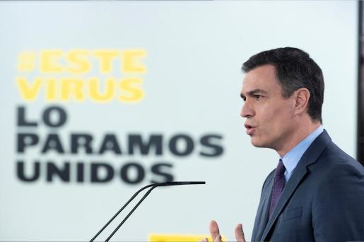 Pedro Sánchez, en una imagen durante su intervención de este sábado.