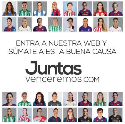 Imagen de la campaña 'Juntas Venceremos', promovida por las futbolistas españolas.
