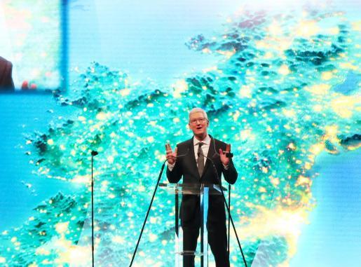 Tim Cook, consejero delegado de Apple, durante un acto en Irlanda.