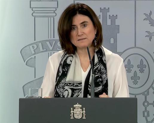 La doctora María José Sierra, en rueda de prensa este lunes.