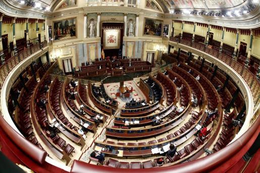 Un momento del pleno celebrado el pasado miércoles 25 de marzo en el Congreso de los Diputados en Madrid.
