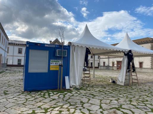 La nueva unidad COVID-exprés ubicada en el Museu del Calçat, en Inca.