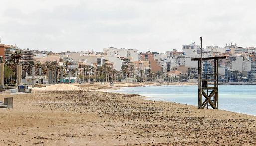 Imagen de la Playa de Palma, vacía por la declaración de estado de alarma.