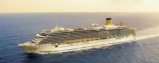 A bordo del buque 'Costa Deliziosa' viajan cerca de 200 españoles que están realizando la vuelta al mundo.