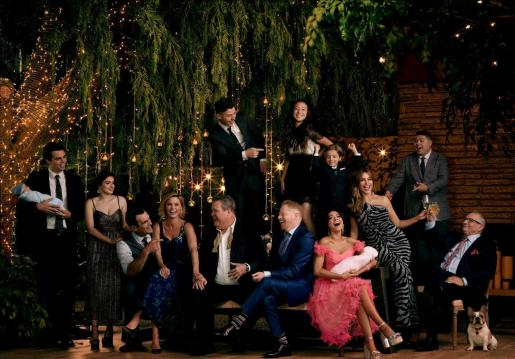 Fotografía cedida por American Broadcasting Companies del elenco de la serie 'Modern Family'.