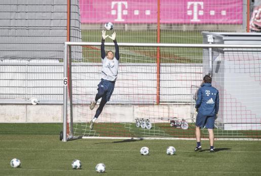 Imagen de un entrenamiento del Bayern de Múnich.