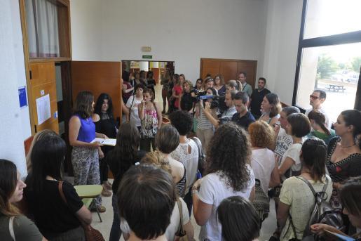 Imagen de unas oposiciones a docentes celebradas en Mallorca en 2018.