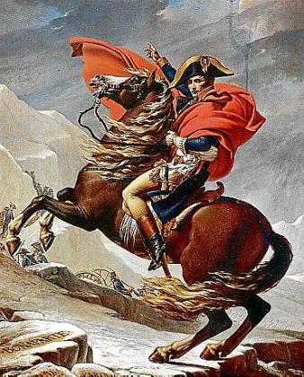 Napoleón cruzando los Alpes', obra de Jacques-Louis David.