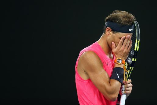 Imagen de Rafael Nadal durante su participación en el pasado Abierto de Australia.