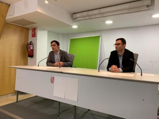 El conseller Iago Negueruela y Rubén Castro, director del Institut Balear de Seguretat i Salut Laboral.