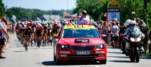 Salida real de una de las etapas del pasado Tour de Francia.