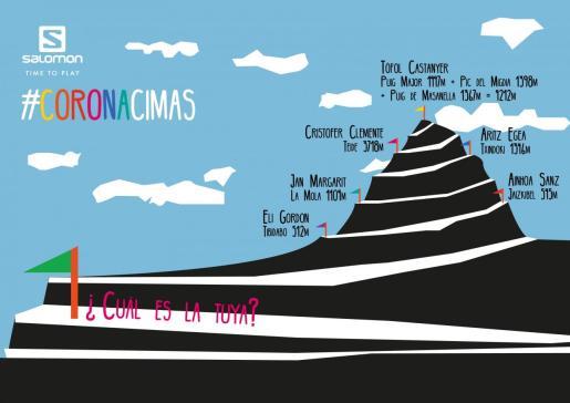 Imagen del reto #CORONACIMAS que proponen Tòfol Castanyer y los atletas del equipo Salomon.