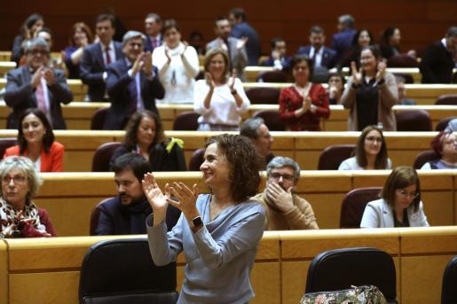 Imagen de archivo de la ministra de Hacienda, María Jesús Montero, durante un pleno del Senado.