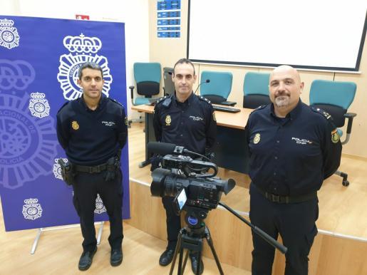 Los inspectores Javier Martín, Gustavo Cervero y Alejandro Becerra.