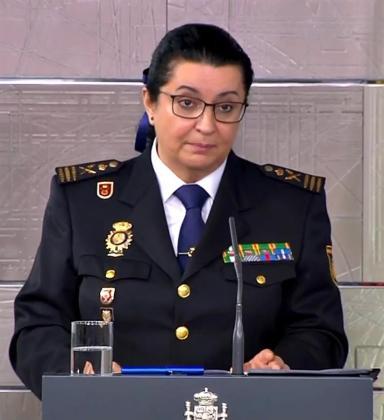 María Pilar Allué, comisaria principal y jefa de personal de la Policía Nacional.