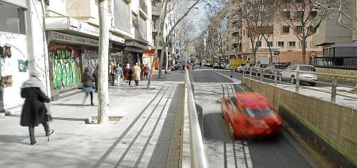 La peatonalización de la calle Nuredduna debe comenzar el año que viene, según las previsiones de Cort.