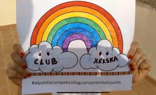 Imagen del arcoíris Xelska, cuyo vídeo se presentó este miércoles en las redes sociales.