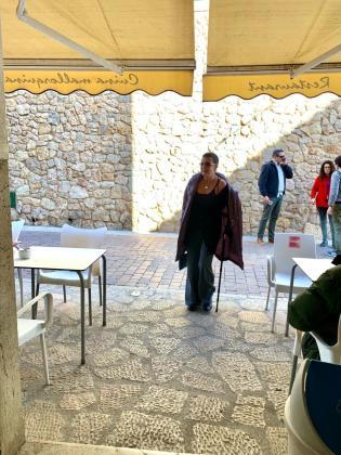 Eva Hache, en Lloret el pasado mes de noviembre durante la grabación del programa 'La paisana'.