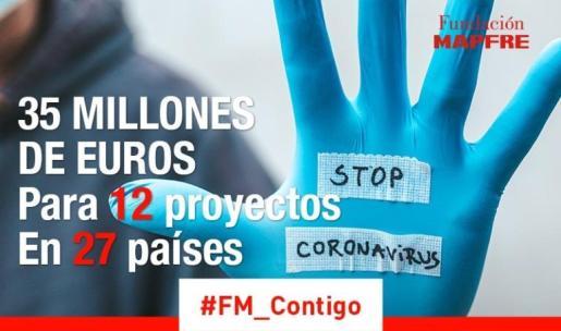 Fundación MAPFRE destina 35 millones de euros a frenar la COVID-19, ayudar a las familias y recuperar el empleo.