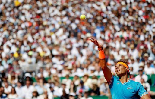 Imagen de archivo de Rafa Nadal durante un partido en Montecarlo.