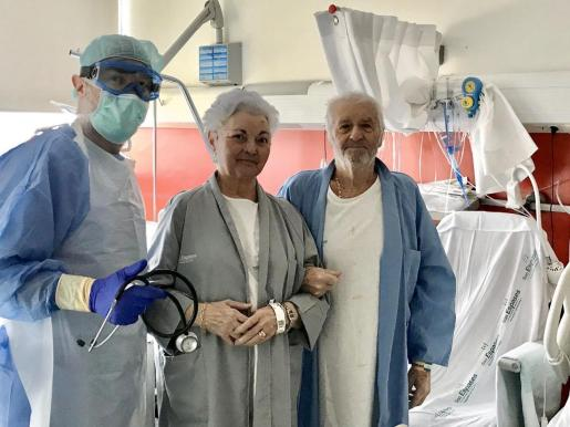 Josefa, de 81 años, de Toni, de 79 años, son dos de las personas que han superado el coronavirus en Baleares.
