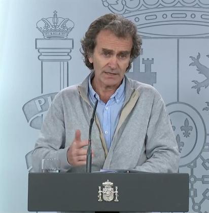 El doctor Fernando Simón este martes en rueda de prensa.