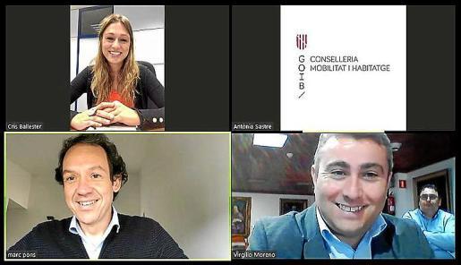 Videoconferencia de la firma del convenio de cesión del suelo en Inca.