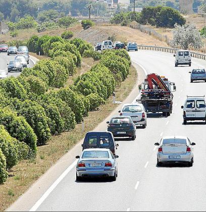El accidente ocurrió junto a la autovía de Llucmajor.