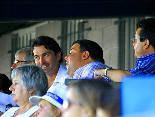 El presidente del Atlètic, Fernando Crespí, y el técnico Pep Sansó.