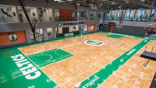 Imagen de la pista de entrenamiento de los Boston Celtics.