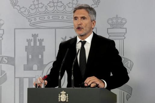 Fernando Grande-Marlaska, en rueda de prensa.