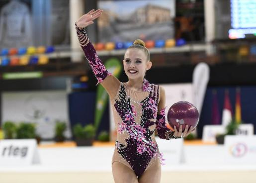 La gimnasta mallorquina Alexandra Moody.