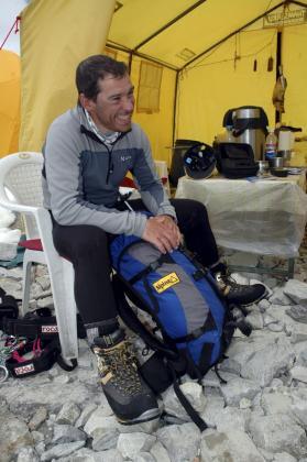 El desaparecido Tolo Calafat, en una imagen de archivo en una de sus expediciones. El montañero era apreciado y respetado por sus compañeros.