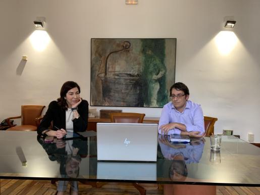 El conseller de Modelo Económico, Turismo y Trabajo, Iago Negueruela, y la directora general de Turismo, Rosana Morillo, se han reunido esta martes con altos ejecutivos del Grupo TUI.
