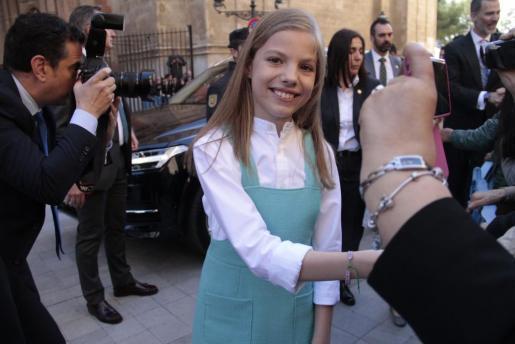 La infanta Sofía, en una de sus últimas visitas a Mallorca.