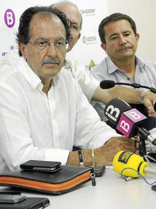 Reynés durante la rueda de prensa de ayer.