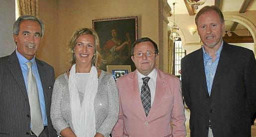 Luigi de Rosa, Cristina Beascoechea, Tomeu Vidal y Ramon Socías.