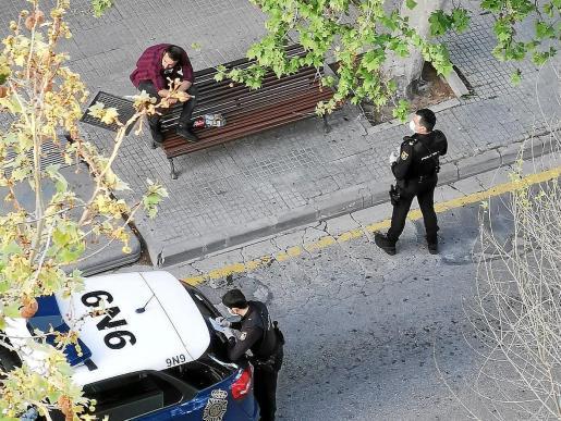 Imagen de uno de los muchos identificados en Palma por estar en la calle en los últimos días.