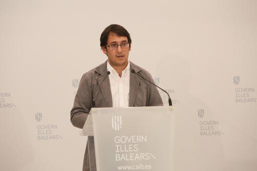 Iago Negueruela, durante su comparecencia.