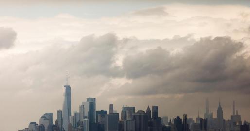 Vista de Manhattan después de una tormenta este viernes en Nueva York.