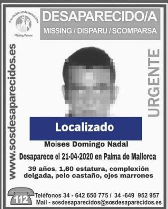 Localizado el hombre desaparecido en Palma.