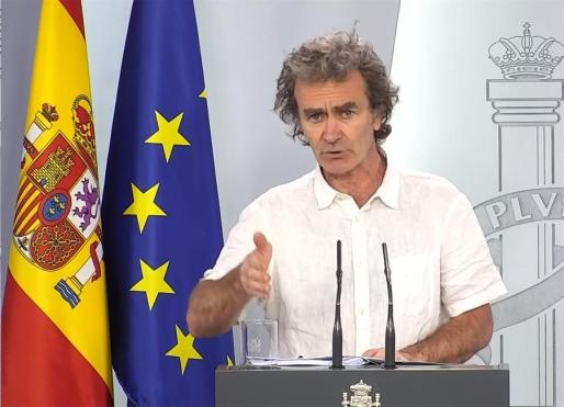 El doctor Fernando Simón, este lunes en rueda de prensa.