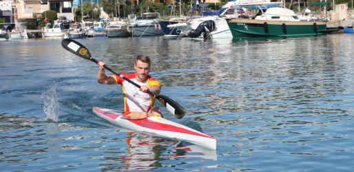 Marcus Cooper Walz, este lunes, en su vuelta a los entrenamientos en Portopetro.