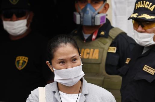 Fujimori, al salir de la cárcel.