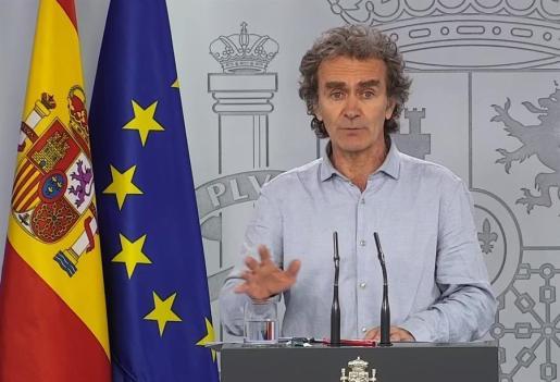 El doctor Fernando Simón, en rueda de prensa este martes.