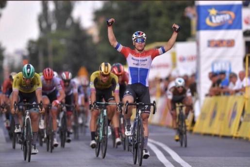 El ciclista neerlandés Fabio Jakobsenen la Vuelta a España 2019.