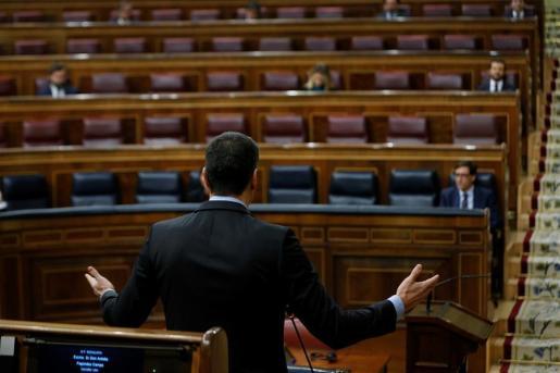 El presidente del Gobierno, en una comparecencia reciente en la Cámara Baja.