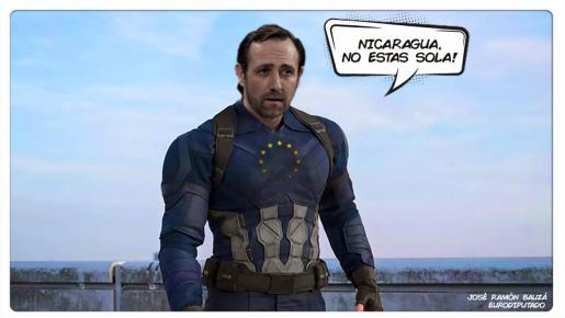 «Qué buena esta composición», comentó con humor el eurodiputado mallorquín de Ciudadanos.