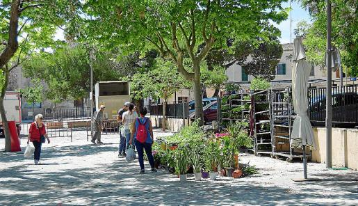 La distancia entre las paradas era grande y la afluencia de público fue modesta en el mercado de Sineu.