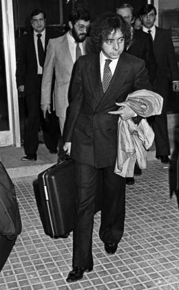 Fotografía de archivo (20/11/1981), del expolicía de la Brigada Político Social del franquismo Antonio Fernández Pacheco, Billy el Niño, acusado de crímenes de lesa humanidad por torturas durante los últimos años de la dictadura,que ha muerto este jueves de coronavirus en un hospital de Madrid.